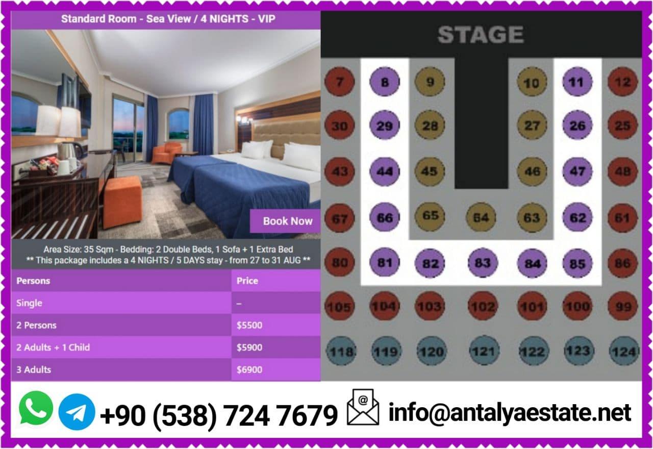 Arabian singers summer concert in Antalya VIP package