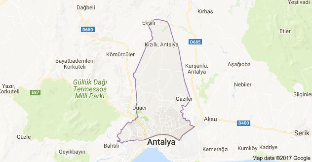 Antalya kepez district map