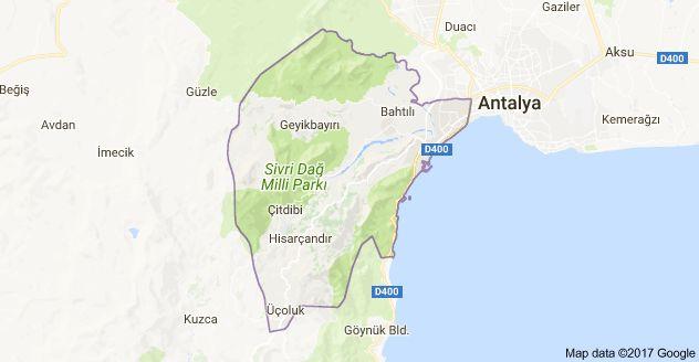 Antalya konyaalti district map