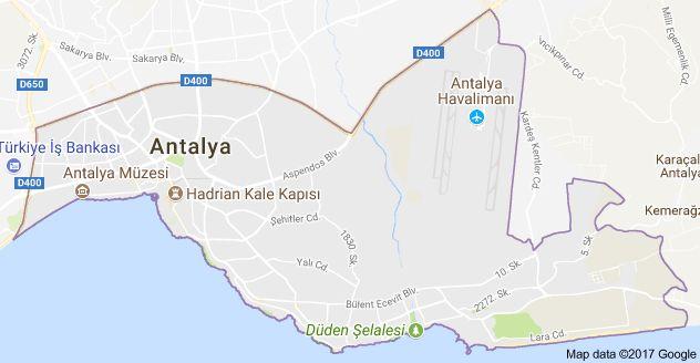 lAntalya lara district map